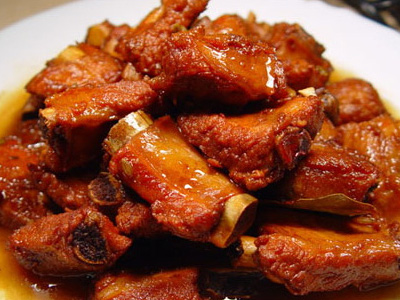 Spareribs with brown sauce